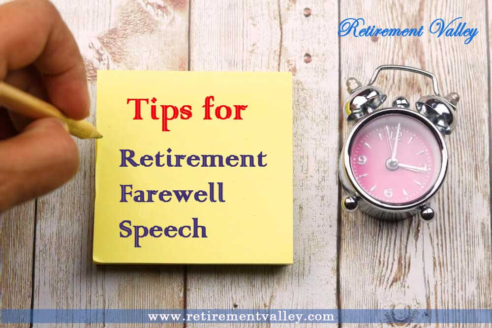 5 tips for a successful retirement farewell speech