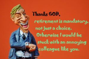 funny retirement wishes for colleague