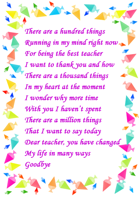 poem for teacher retirement